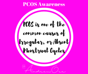 Copy of PCOS Awareness Irregular Menses or Absent cycles